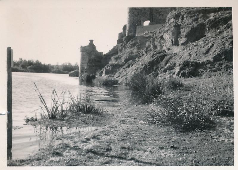 Río Tajo junto al puente de san Martín a mediados del siglo XX. Fotografía de Victoriano de Tena Sardón