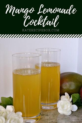 Mango Lemonade Cocktail | by katesrecipebox