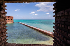 Framed from Fort Jefferson