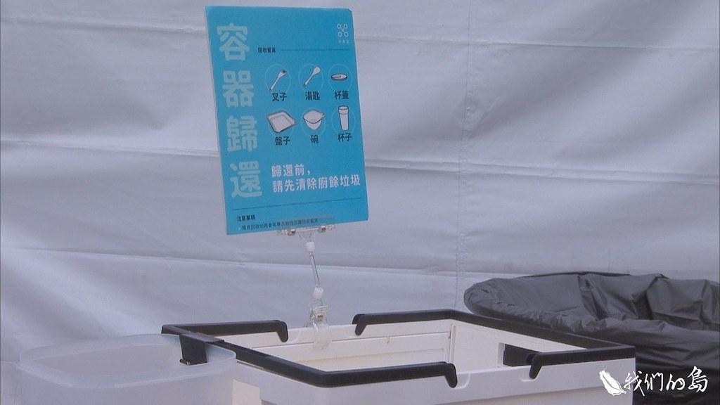 1001-1- (27)透過APP租借餐具,可以全區使用,使用後不需自行清洗,只要放進回收箱。
