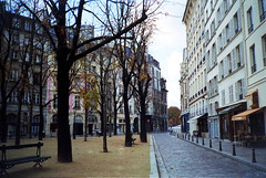 Paris Street on an Empty November Day