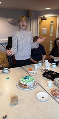 Hannah cuts the cake to celebrate 25 years of women in the priesthood in the diocese of Oxford