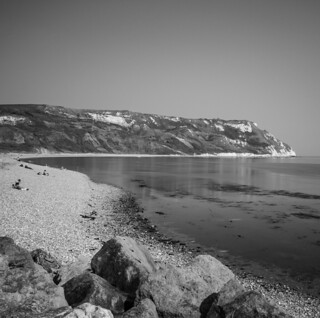 Ringstead Bay - monochrome