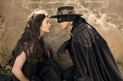 """Catherine Zeta-Jones and Antonio Banderas in """"The Legend Of Zorro"""""""