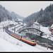 Henk Zwoferink posted a photo:De volgende dag werd gestart bij Goldegg im Pongau. Door het slechte weer kon hier een foto gemaakt worden van de AKE E10 1309 met de Alpen Express. Goldegg im Pongau 10-02-2018