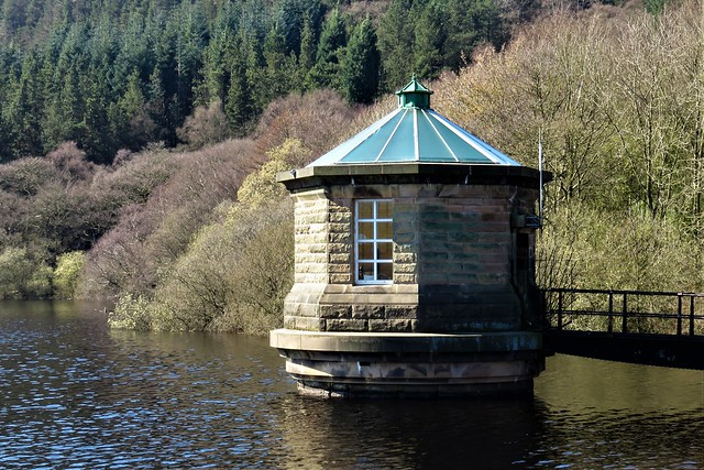 Draw-off Tower, Fernilee Reservoir, Goyt Valley, Peak District