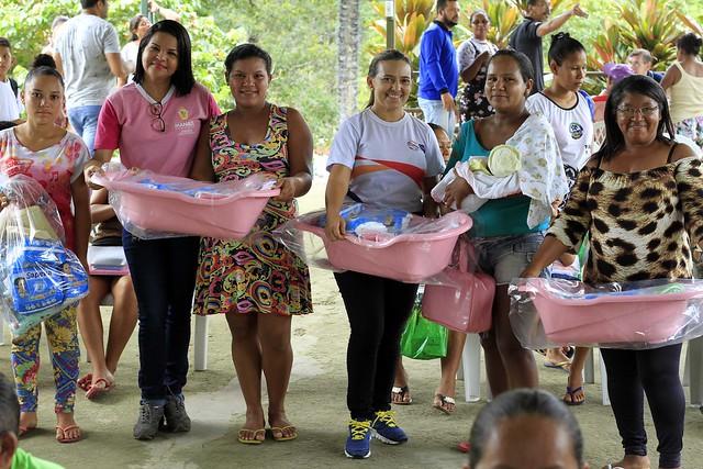 Comunidade do São João do Tupé recebe ações socioassistenciaisa