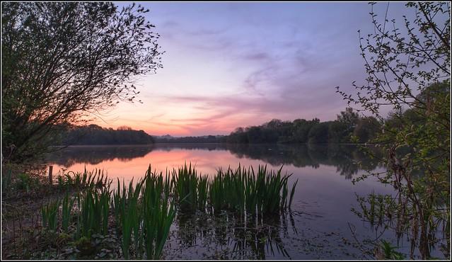 Lake view at dawn