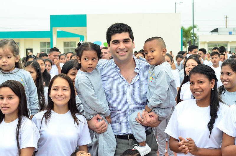 Inauguración de clases y recorrido por la UE Eloy Rugel Aragundi - Daule, Guayas