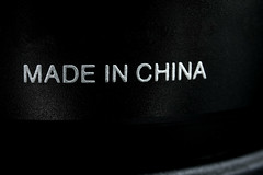 Made in China designation on a product