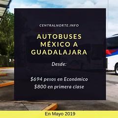 No pierdas el autobús. Viaja a #Guadalajara desde la Central del Norte de la CDMX, aquí los horarios y precios www.centralnorte.info