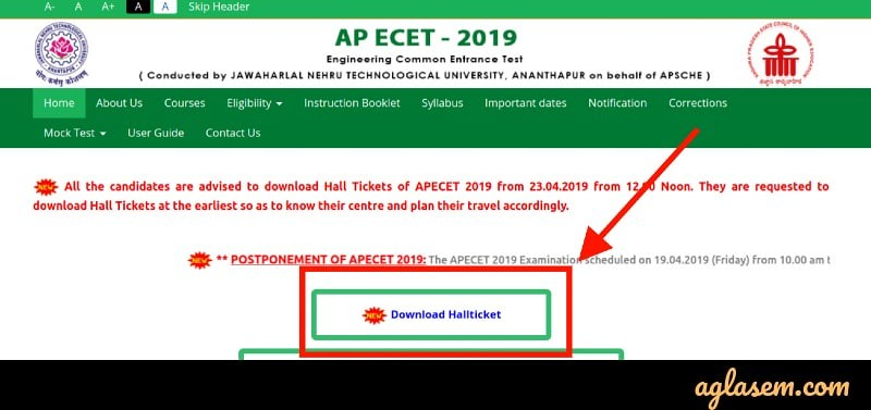 AP ECET 2019 Admit Card Released at sche.ap.gov.in; Last Date to Download 30 Apr
