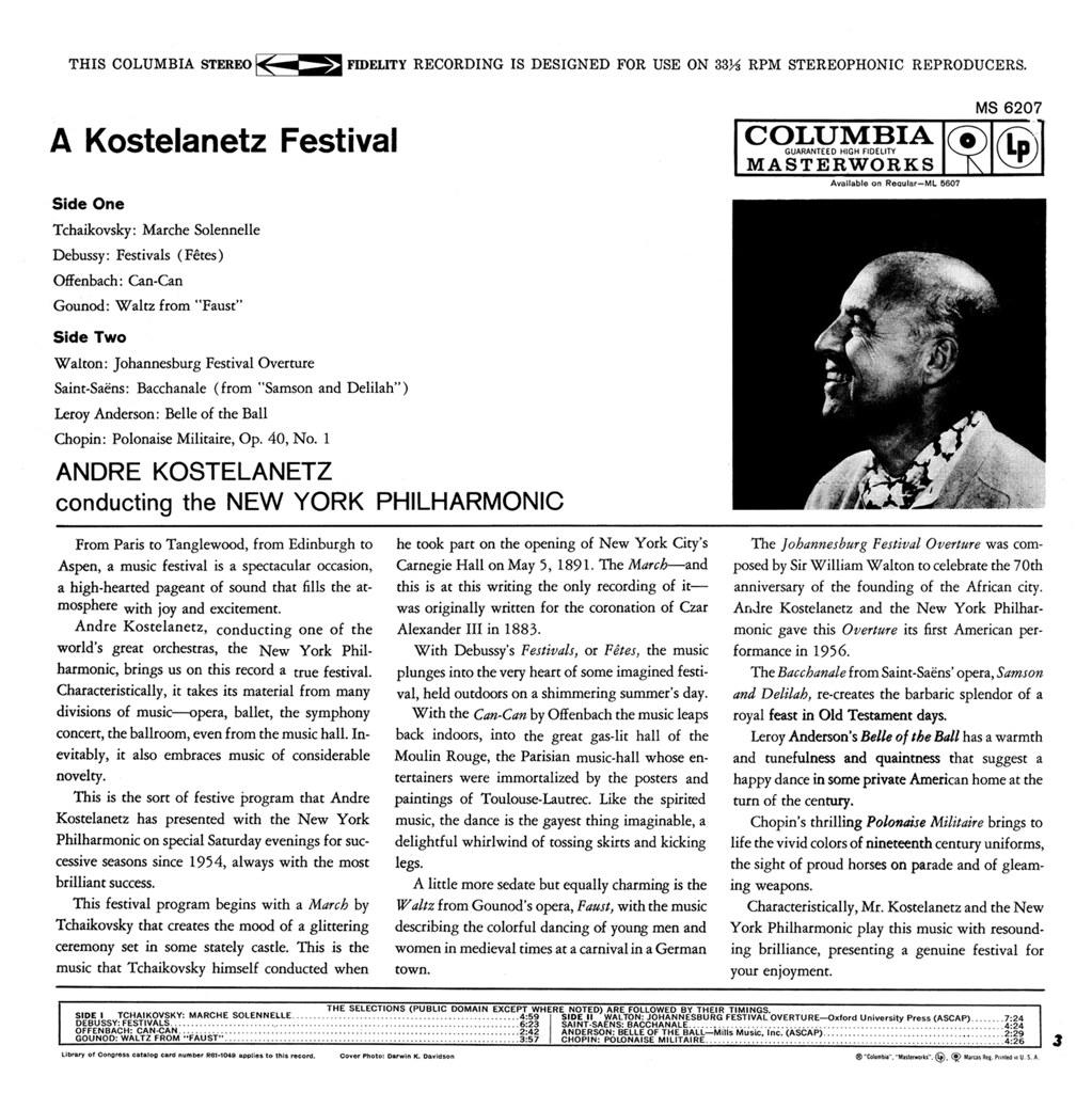 André Kostelanetz - A Kostelanetz Festival