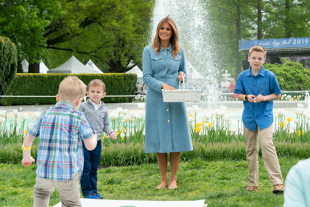 Image result for melania trump white house easter egg roll