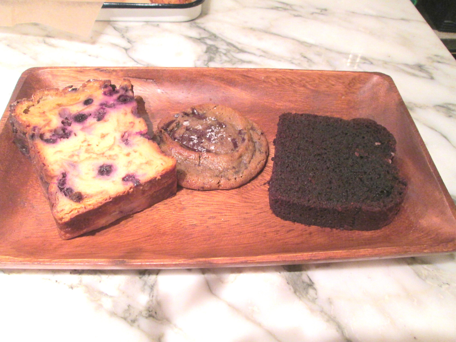 Bread Pudding, Chocolate Chip Cookie with Sea Salt and Olive Oil Cake