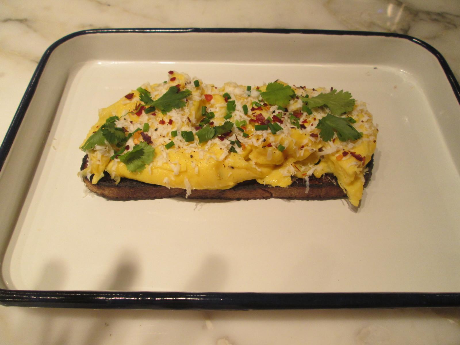 Scrambled eggs on Sourdough