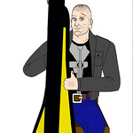 Jon Bernthal as The Punisher playing his harp (Modified)