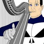 Steve Dillon's Punisher on the harp