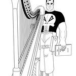 Punisher and his harp