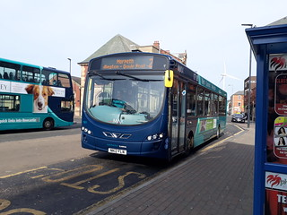Arriva north east 1501 oddly operating on the 2 to Morpeth