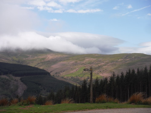Clouds Rolling Down from the Waun Rydd SWC Walk 332 Llangynidr to Bwlch or Circular