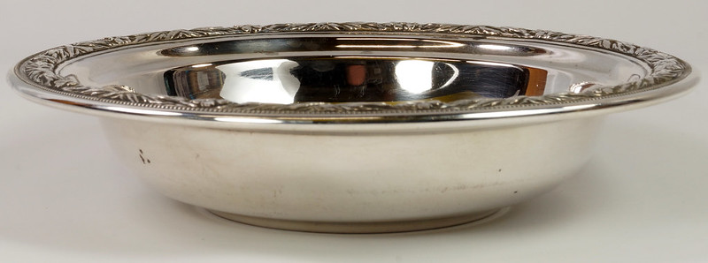RD27846 Vintage Wallace Sterling Silver Bowl Dish Pattern # 3621 Weighs 80 Grams DSC00703