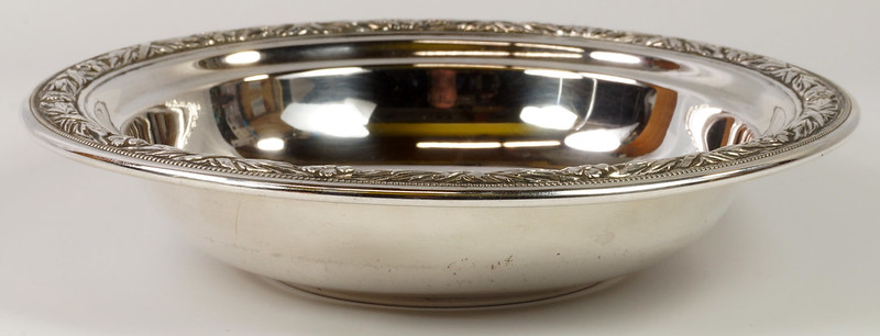 RD27846 Vintage Wallace Sterling Silver Bowl Dish Pattern # 3621 Weighs 80 Grams DSC00701