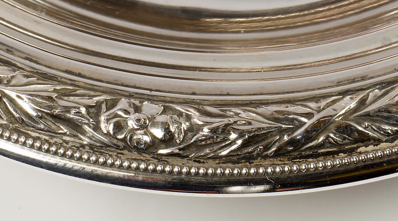 RD27846 Vintage Wallace Sterling Silver Bowl Dish Pattern # 3621 Weighs 80 Grams DSC00697