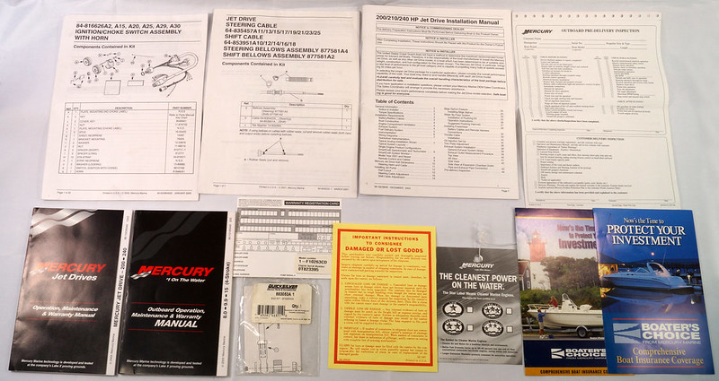 RD19782 2 Mercury Outboard Operation & Maintenance Manuals 200-240, 8.0-9.9-15 Plus Other Booklets DSC00732