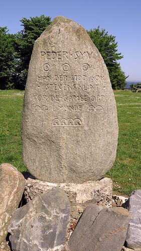 Tombstone marker at Stevns Klint in Denmark