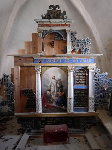 Church altar at Stevns Klint in Denmark
