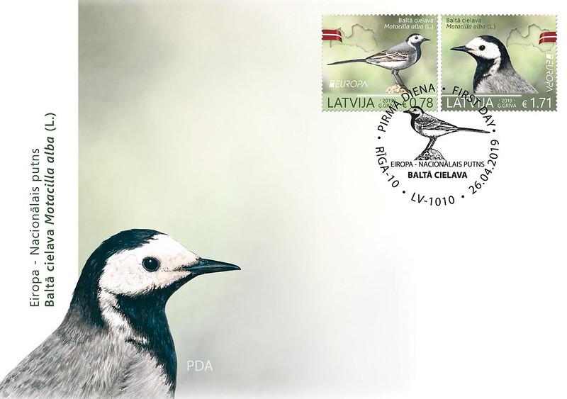 Aploksne Nacionālais putns – baltā cielava