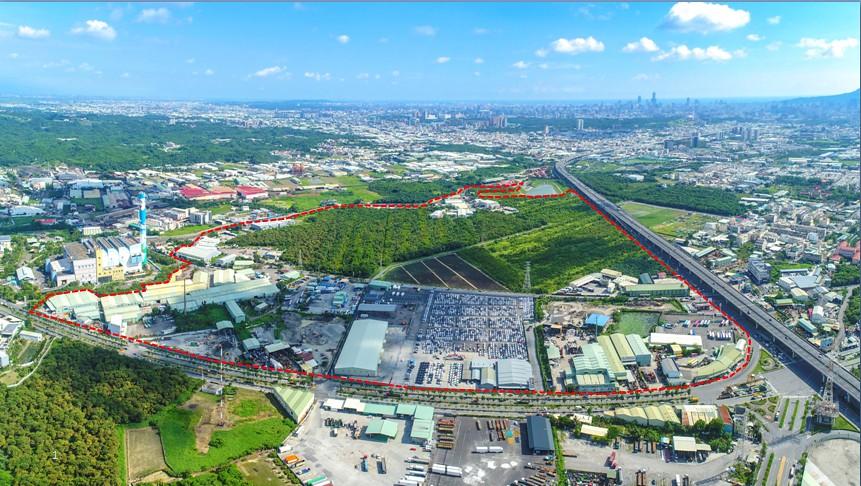 高雄市仁武產業園區設置面積74公頃。圖片來源:高雄市經發局提供。