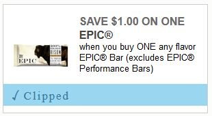 photo relating to Meijer Printable Coupons called $1.00 Epic Bars at Meijer with Printable Coupon In the course of 4/27