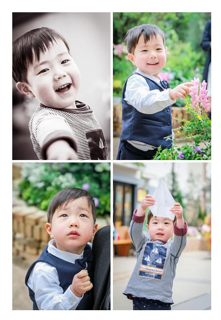 3歳の男の子 春日井市の植物園にて 愛知県