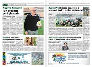 Gazzetta di Parma 24.04.19 - Speciale n. 6 pagg 50-51 - Colla e Mattioli
