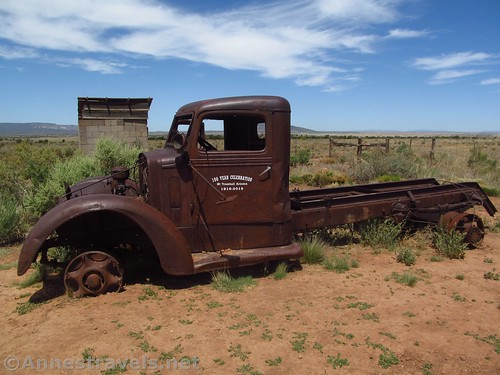 The old truck at the Mount Trumbull Schoolhouse in Grand Canyon-Parashant National Monument, Arizona