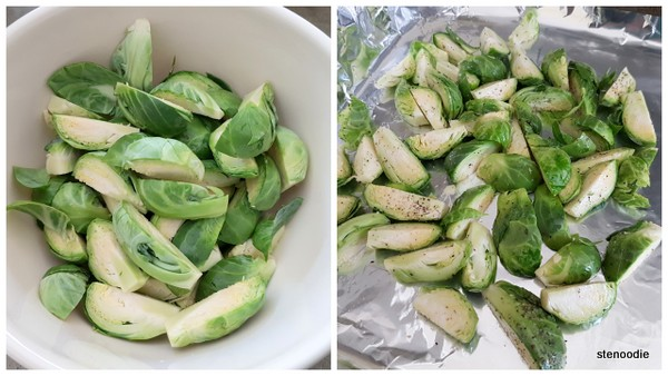 seasoned Brussels sprouts