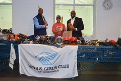 CT State Rep. Fred Camillo (R-151) delivered new and lightly used sports equipment to the Boys & Girls Club of Greenwich for the benefit of local student athletes on Monday, April 22, 2019. The donations were collected during Rep. Camillo's annual Sports Equipment Drive.
