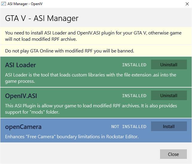 OpenIV ASI Manager