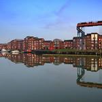 Mirror like dock at Preston