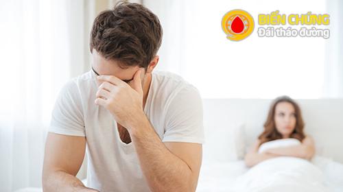 Nam giới mắc tiểu đường dễ bị biến chứng rối loạn cương.