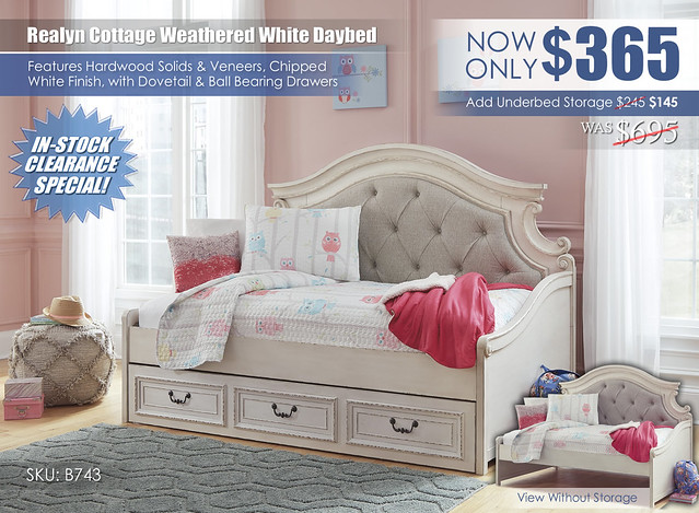 Realyn Cottage Daybed_B743-80_Clearance
