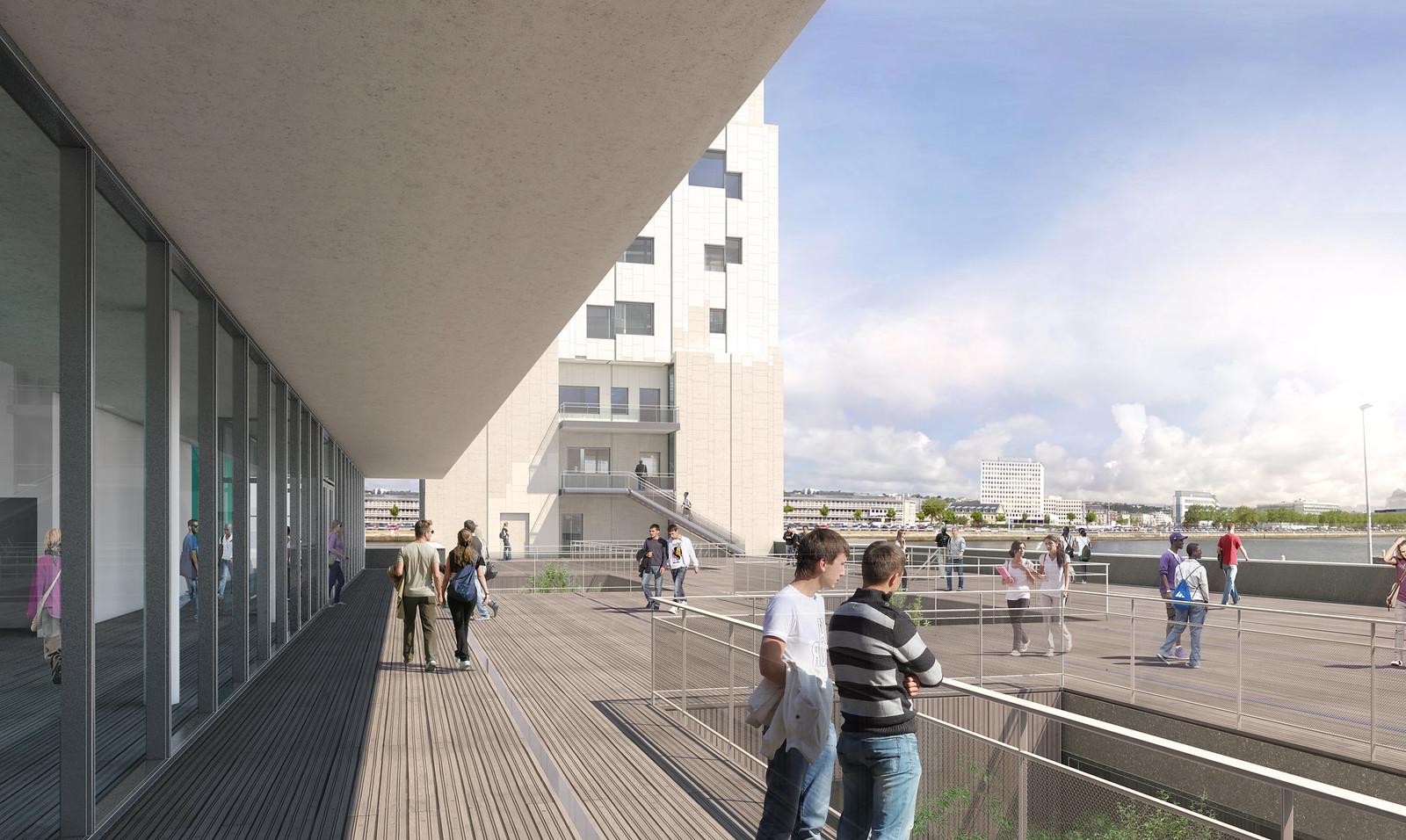 Ecole Maritime – deck, Le Havre