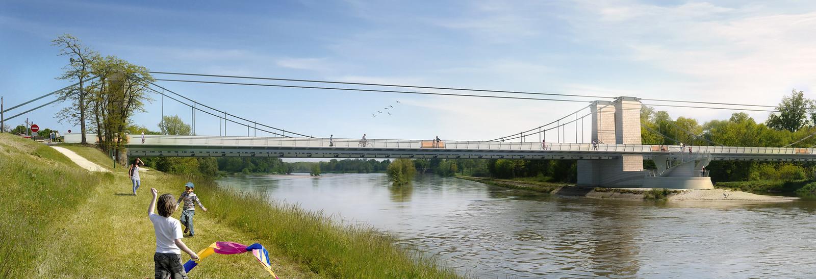Pont de Châtillon – berge, Châtillon