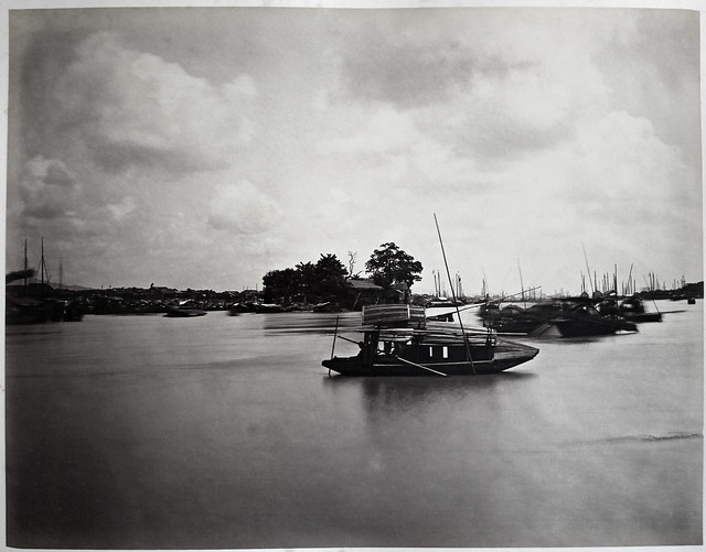 Hotz collection: Guangzhou, Another View of a Flower Boat, ca. 1870