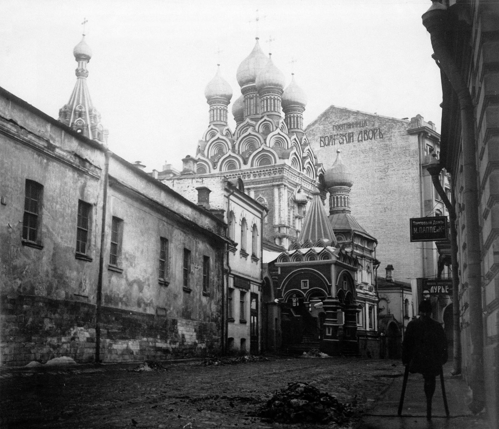 Вид церкви Грузинской Божией Матери (Троицы в Никитниках)