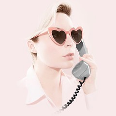 Self portrait with telephone