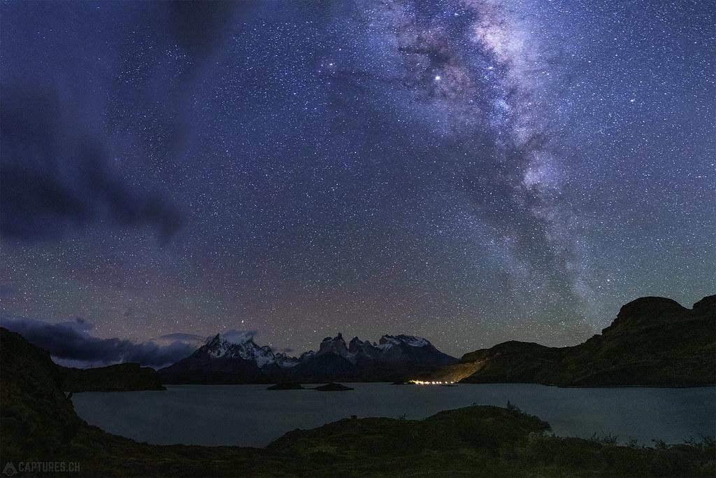 Stars over Lago Pehoe - Torres del Paine