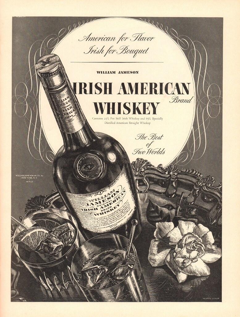 1937 IRISH AMERICAN WHISKEY ADVERTISEMENT LIFE MAGAZINE DE